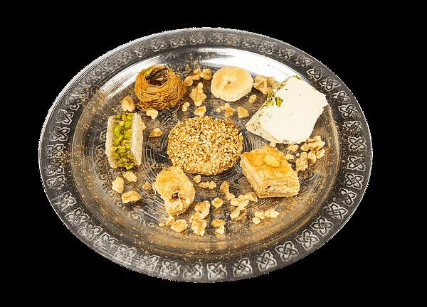 Degustazione di pasticceria mediorientale